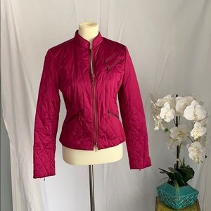 Hot pink satin jacket
